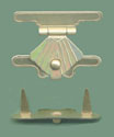 prong and clasp hinge, craft hinges