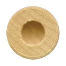 ".525 by 1/4"" Wooden Toy Wheel Axle Cap"