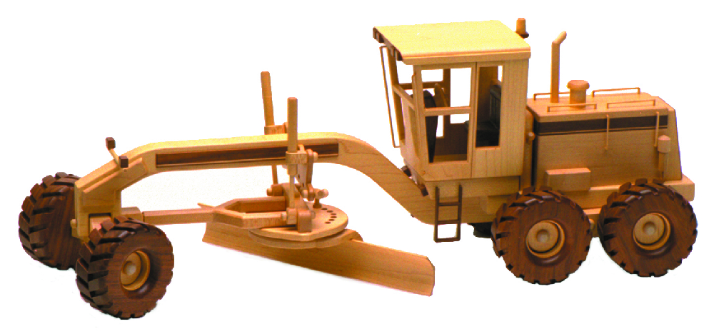 Wooden Trucks Toys And Joys : Road grader inch woodworking plan