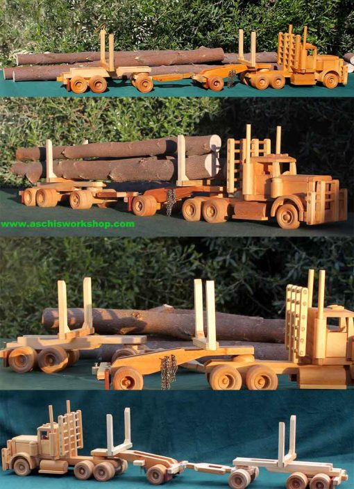 AW-253 Long Load Log Trailer, Bear Woods Supply Woodworking Pattern