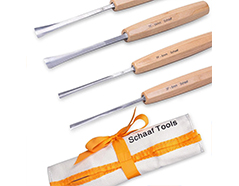 4-piece fishtail carving set