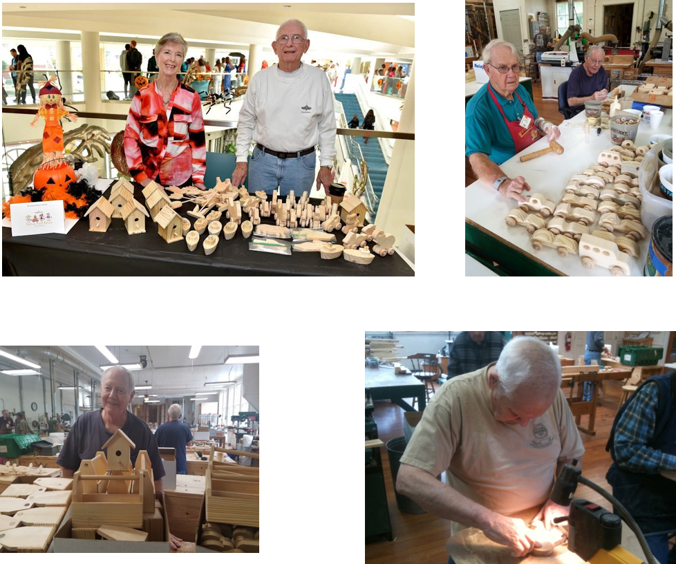 Alabama Woodworkers guild making toys