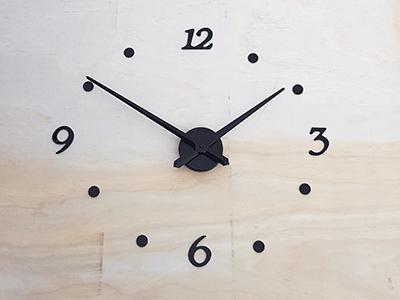 Raised Vinyl clock numbers