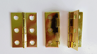 Buy brass plated Box Hinges | Bear Woods Supply