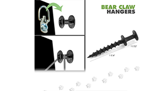 1 Inch Bear Claw Hanger - 10 Pack