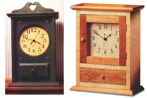 country shaker clocks plan downloadable