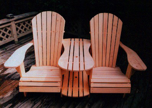 Adirondack Settee Kit Plan - Downloadable