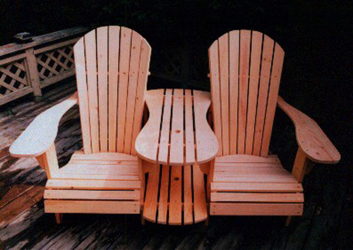 Standard Size Adirondack Chair & Settee Kit Plan - Downloadable
