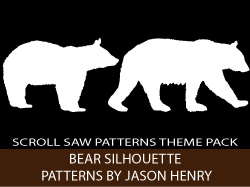Bears Silhouettes Scroll Saw Pattern Booklet by Jason Henry