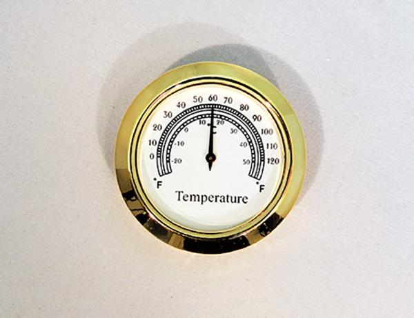 Mini Thermometer Clock Insert | Bear Woods Supply