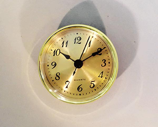 Gold Face Arabic Clock Insert   Bear Woods Supply