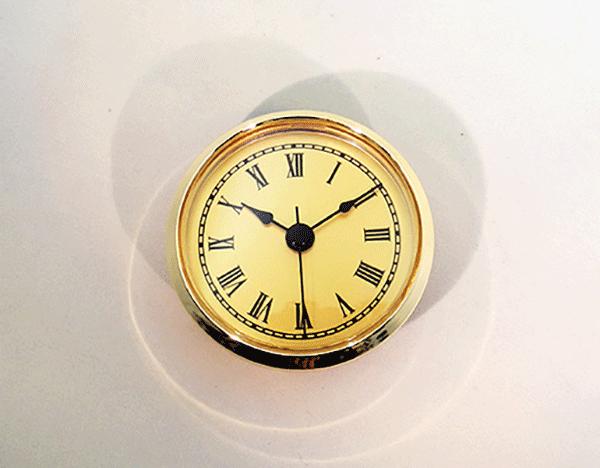 Gold Face Roman Clock Insert   Bear Woods Supply