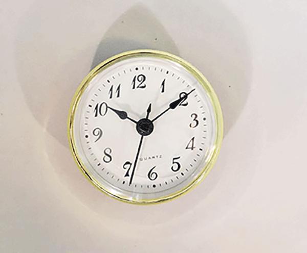 White Arabic Clock Insert   Bear Woods Supply