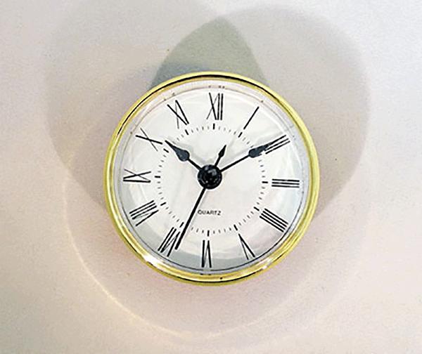 White Roman Quartz Clock Insert   Bear Woods Supply