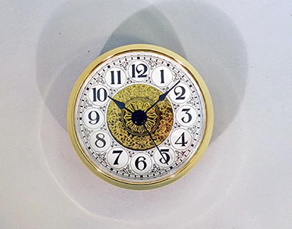 Fancy White Arabic Clock Insert   Bear Woods Supply