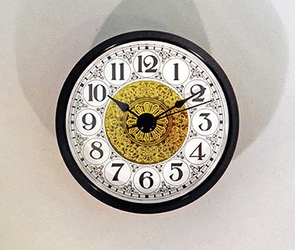 Fancy White Arabic Clock Insert Black   Bear Woods Supply