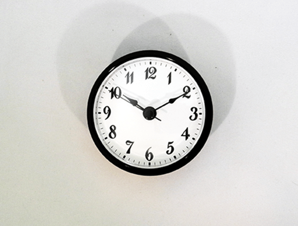 White Arabic Clock Insert Black   Bear Woods Supply
