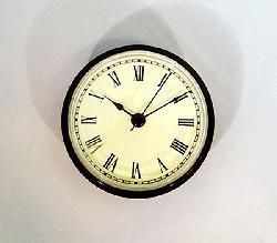 Ivory Roman Clock Insert Black | Bear Woods Supply