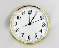 Gold White Arabic Clock Insert | Bear Woods Supply