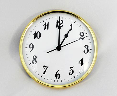 "Clock Inserts - 6"" (152 mm) Gold, White, Arabic Fitups"