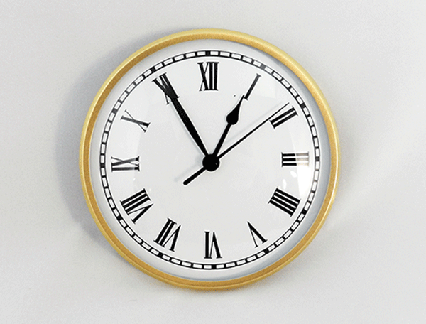 Gold White Roman Clock Insert | Bear Woods Supply