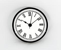 White Roman Clock Insert Black | Bear Woods Supply