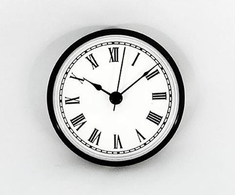 Clock Inserts 3 12 Roman Numerals White Dial Black Bezel - 3-roman-numerals-clocks