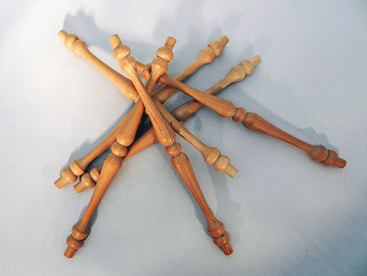 Wooden Chair Spindle Replacement Parts ~ Cherry spindles inch by