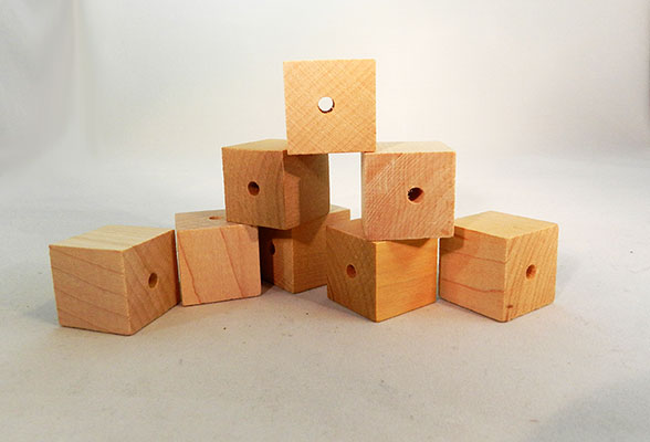 wood block 1 2 inch with a 1 8 inch drilled hole per bag of 25. Black Bedroom Furniture Sets. Home Design Ideas