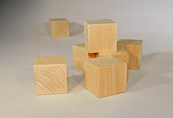 Wood Blocks 1 Inch Wood Cubes Per Piece