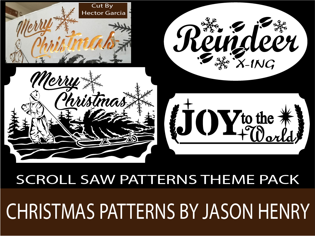Christmas Scroll Saw Patterns Pack by Jason Henry