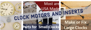 Clock parts and motors