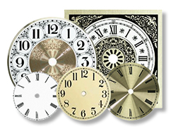 Clock Dials Round and Square, Clock Faces