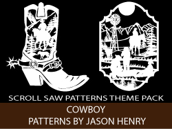 Cowboy Theme Scroll Saw Patterns by Jason Henry