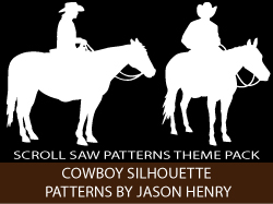 Cowboys Silhouettes Scroll Saw Patterns by Jason Henry