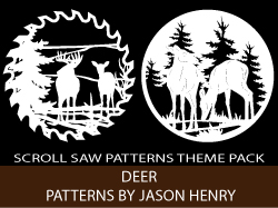 Deer Theme Scroll Saw Patterns Pack by Jason Henry