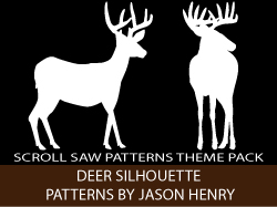 Deer Silhouettes Scroll Saw Patterns by Jason Henry