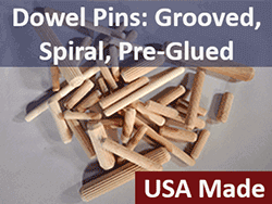 Dowel Pins, fluted and spiral