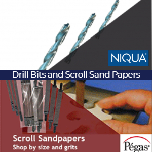 Scroll Saw Drill Bits and Sandpapers