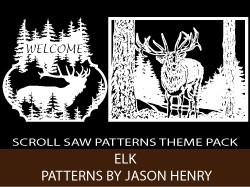 Elk Scroll Saw Patterns Kit by Jason Henry