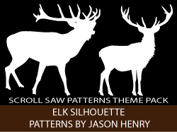 Elk Silhouettes Scroll Saw Patterns pack by Jason Henry