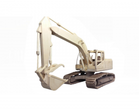 Excavator woodworking pattern | Bear Woods Supply