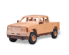 Extended pickup truck woodworking pattern | Bear Woods Supply