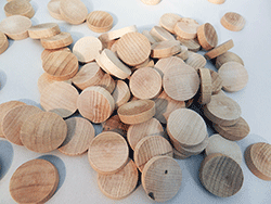 Flat Head Maple Wood Plugs | Bear Woods Supply