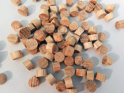 Flat Head Oak Wood Plugs | Bear Woods Supply