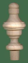 Wood finial 1 3 16 x 2 3 4 with 1 2 tenon maple for Wooden finials for crafts