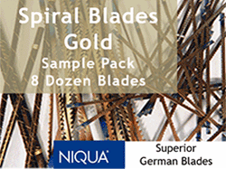 Spiral Scroll Saw Blades by Niqua of Germany | Bear Woods