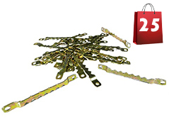 Sawtooth Picture Hangers 3 - Zinc Yellow Steel (Use #4-6 Screws) 25 Steel Hangers