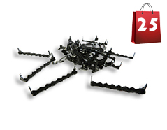 Nailess Sawtooth Hangers 2 by 5/16 for hardwood frames - Black Oxide Plated 25 PACK