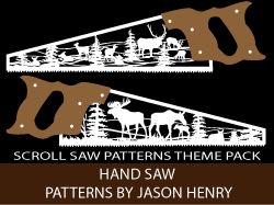 Hand Saw Scroll Saw Patterns kit by Jason Henry